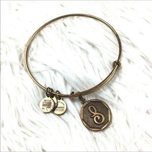 Alex & Ani Bronze Tone Charm Bracelet